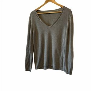 TOMMY HILFIGER Grey Knit Metallic Thread Sweater